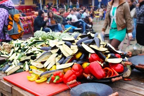 groenten klaar om te grillen