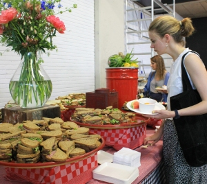 Buffet: keuze uit verschillende sandwiches