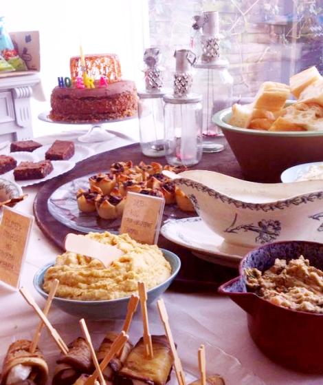 Buffet _hartige taartjes en verse dipjes